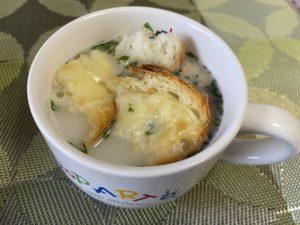 ポタージュスープ&フランスパン・バターチーズ焼