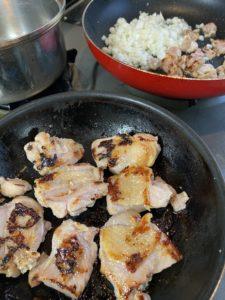 鶏肉の塩麴漬焼き