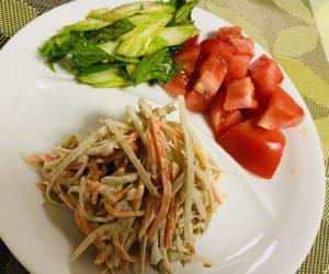ごぼうサラダ・セロリ・トマト
